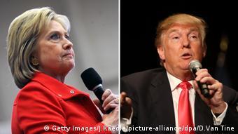 Bildkombo Hillary Clinton Donald Trump USA Präsidentschaftswahlen 2016