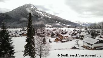 Немецкий альпийский курорт зимой