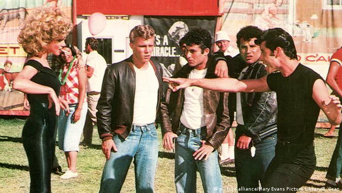 USA Olivia Newton John und John Travolta in Grease