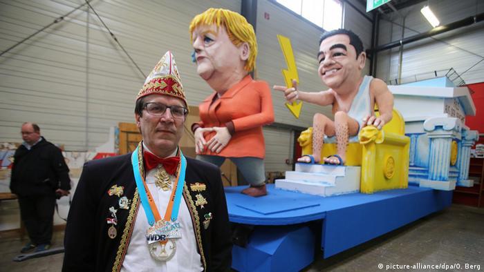 Christoph Kuckelkorn pred karnevalskim kolima za karneval u Kölnu 2016.