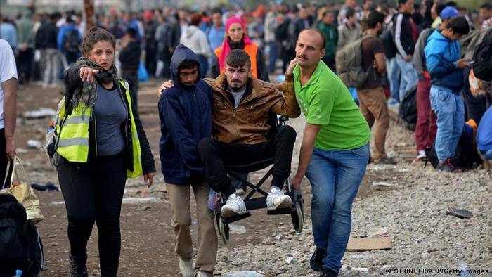 Flüchtlinge mit Behinderung auf dem Weg nach Europa