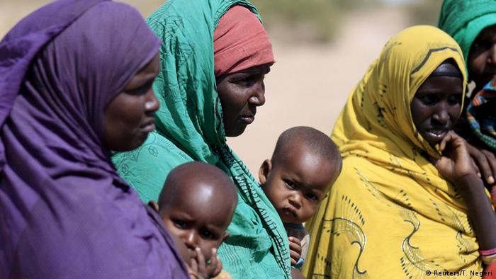Ethiopian women and children