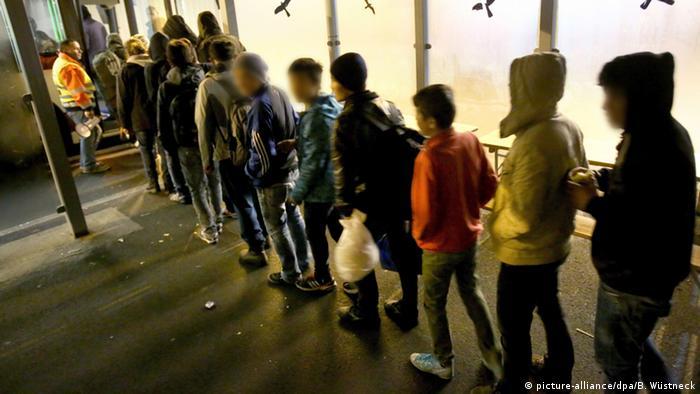 Deutschland Transitflüchtlinge in Richtung Skandinavien