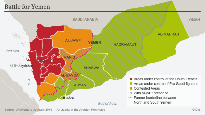 Infographic showing territories held by conflict parties