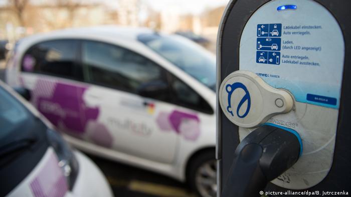 Заправка для электромобилей в Берлине