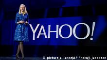 FILE - In this Jan. 7, 2014, file photo, Yahoo president and CEO Marissa Mayer speaks during the International Consumer Electronics Show in Las Vegas. Yahoo reports financial earnings on Tuesday, Feb. 2, 2016. (AP Photo/Julie Jacobson, File) Copyright: picture alliance/AP Photo/J. Jacobson