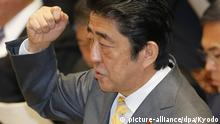 Shinzo Abe Geste Japan Tokio