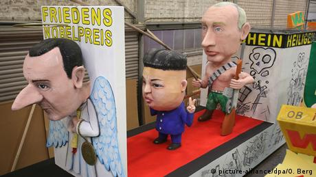 Deutschland BdT Kölner Karneval - Motivwagen Assad, Kim Jong Un und Putin (picture-alliance/dpa/O. Berg)