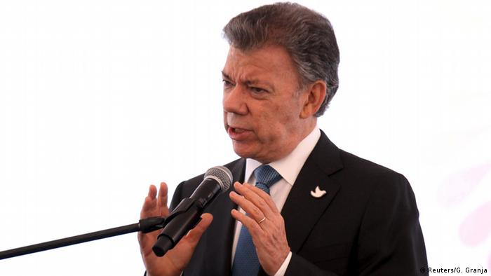 Kolumbien Juan Manuel Santos Pressekonferenz