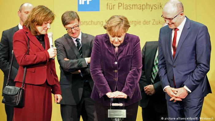 Merkel presses button for Wendelstein 7-X