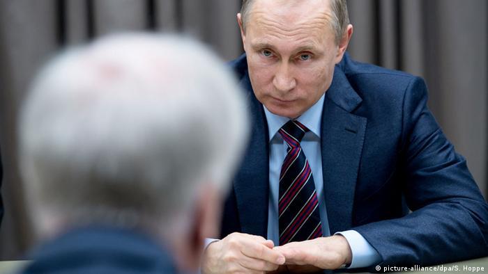 Хорст Зеехофер и Владимир Путин