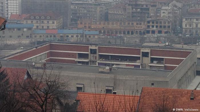 Ledena dvorana Skenderije bez krova