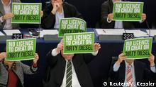 Straßburg Europäisches Parlament Abstimmung Diesel Abgase