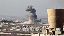 Luftangriffe in der Region Aleppo im Norden Syriens