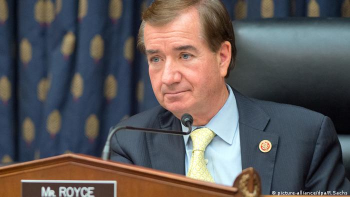 اد رویس، نماینده جمهوریخواه کنگره و رئیس کمیته روابط خارجی مجلس نمایندگان آمریکا (عکس از آرشیو)