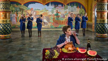 Pussy Riot in their video Chaika Moskau Russland Copyright: AP Photo/Denis Sinyakov