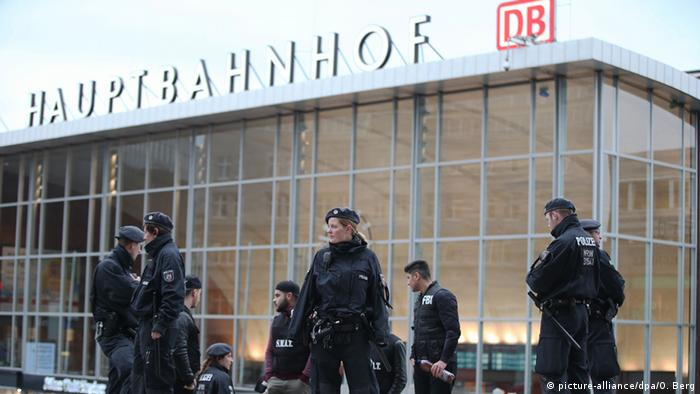 Police at Cologne central train station