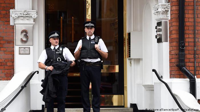 London ecuadorianische Botschaft Julian Assange
