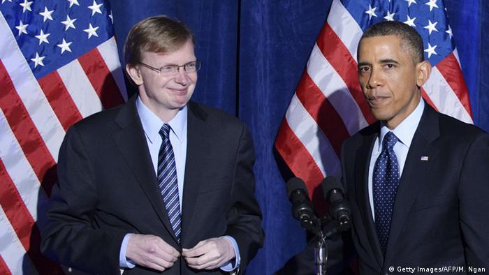 Джим Мессина и Барак Обама