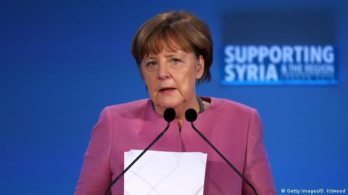 Großbritannien Syrien Geberkonferenz in London Merkel Rede