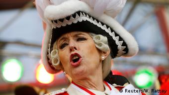 ХенриеттеРекер на кельнском карнавале