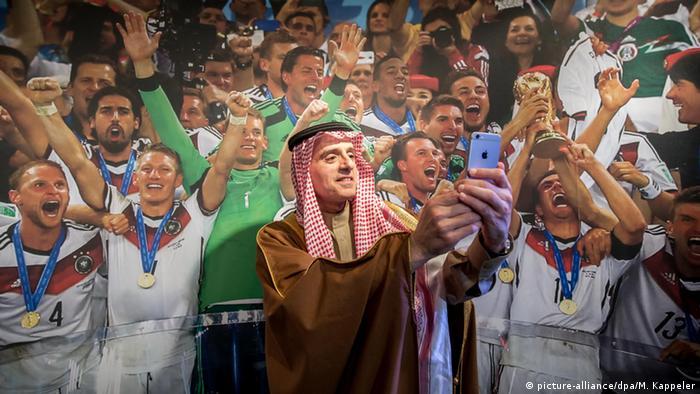Saudi-Arabien Adel al-Dschubeir Außenminister Selfie Poster der deutschen Fußballnationalmannschaft