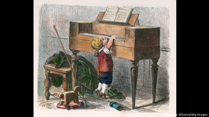 Mozart am Klavier seines Vaters (picture alliance/akg-images)
