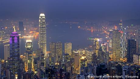 Stadtansicht von Hongkong bei Nacht