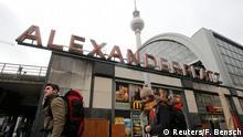 Alexanderplatz, Berlín, donde supuestamente se planeaba un atentado terrorista.
