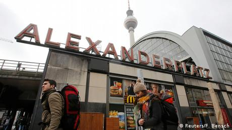 Alexanderplatz entrance to subway (Reuters/F. Bensch)