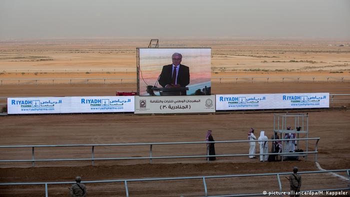 Saudi-Arabien Steinmeier zu Besuch Kamelrennen Rede