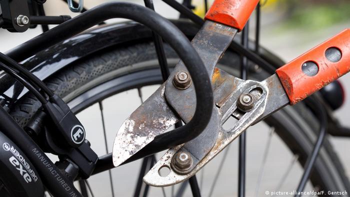 Fahrraddiebstahl Bolzenschneider