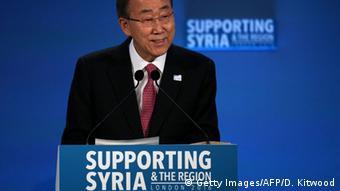 Großbritannien Ban Ki-moon auf der Syrien Geberkonferenz