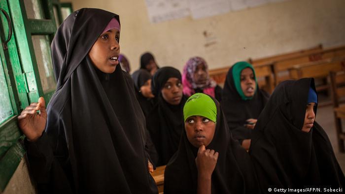 Niñas en Somalia.