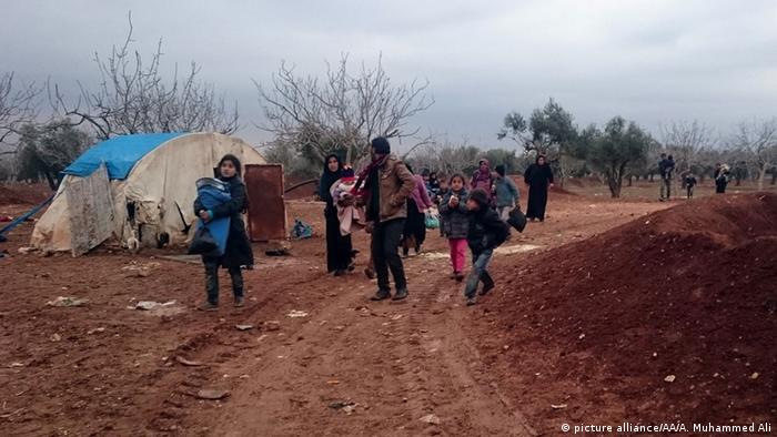 Syrien, Flüchtlinge bei Aleppo