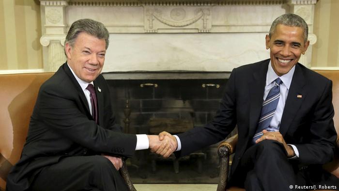 US Kolumbien Präsident Obama und Juan Manuel Santos Treffen