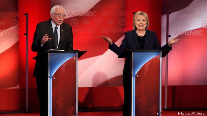 Bernie Sanders Hillary Clinton US Wahl Debatte