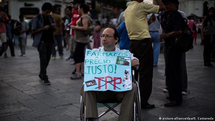 Peru Proteste gegen TPP Handelsabkommen