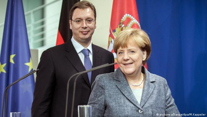 Aleksandar Vucic Angela Merkel Syrienkonferenz London Großbritannien