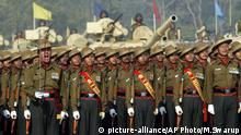 Indien Gurkha Soldaten Parade