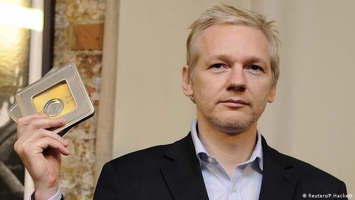 Julian Assange London Botschaft Ecuador (Reuters/P.Hackett)