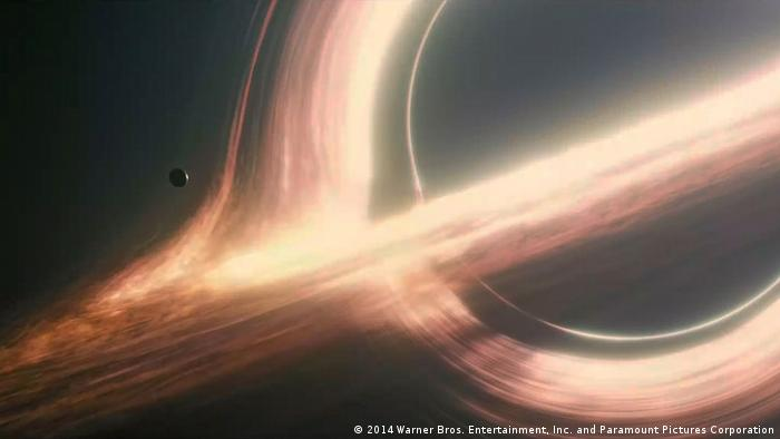 The black hole Gargantua from the film Interstellar