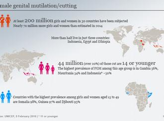 اندام جنسی بیش از ۲۰۰ میلیون زن و دختر جوان ناقص شده است