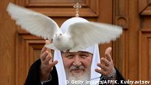 Patriarch Kirill, Oberhaupt der Russisch-orthodoxen Kirche, die größte aller orthodoxen Kirchen