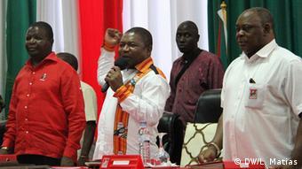 Mosambikanische Präsident Filipe Nyusi in Zentralkomitee von Regierungspartei FRELIMO