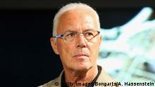 Bildunterschrift:MUNICH, GERMANY - MAY 09: Franz Beckenbauer, Honorary President of FC Bayern Muenchen attends the opening of the special exhibition 'Kaiser. Kalle. Bomber.' at FCB Erlebniswelt museum on May 9, 2015 in Munich, Germany. (Photo by Alexander Hassenstein/Bongarts/Getty Images)