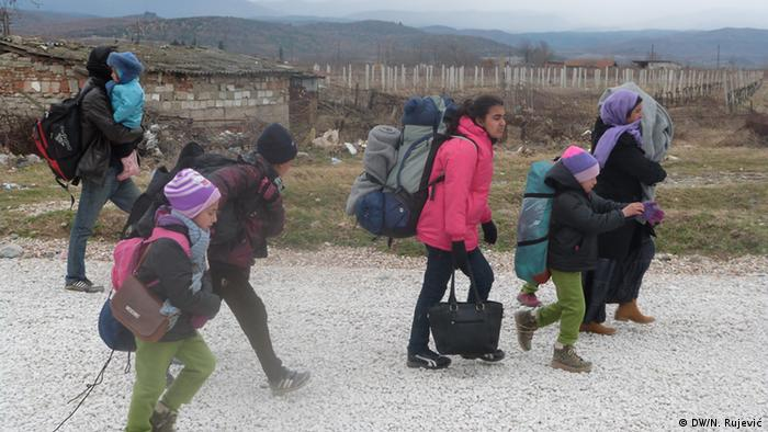 Children traveling alone on the Balkan route