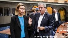 """""""Grenzschließung ist keine Lösung"""": EU-Außenbeauftragte Mogherini mit Luxemburgs Außenminister Asselborn"""