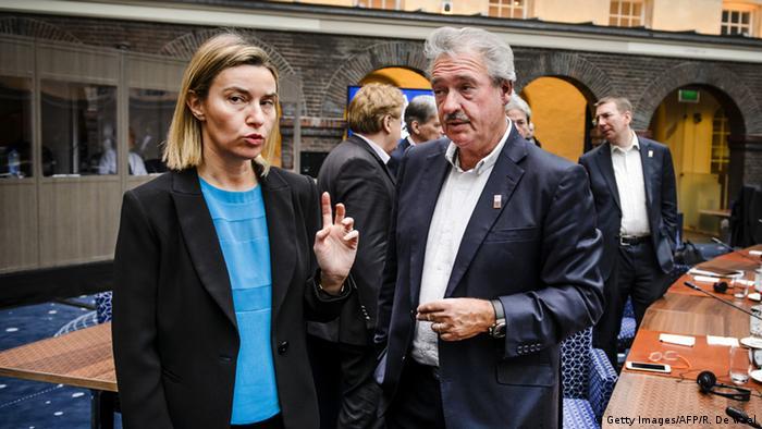 Niederlande Amsterdam Außenminister informelles Treffen Mogherini mit Asselborn