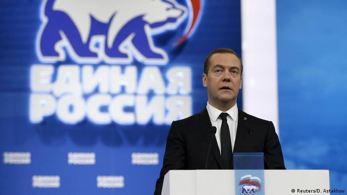 Moskau Parteitag Einiges Russland Dmitri Medwedew